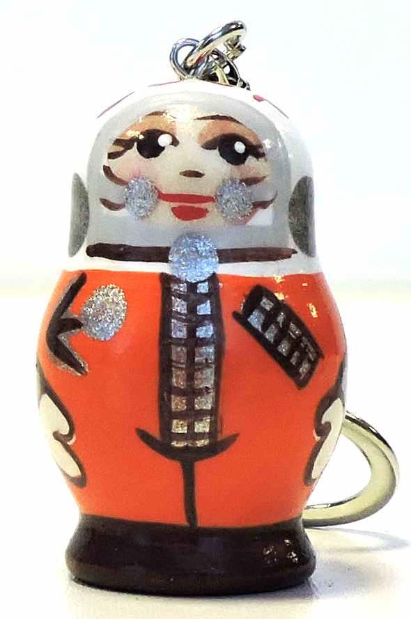 Игрушка детская Taowa Брелок деревянный, оранжевый брелок под фото