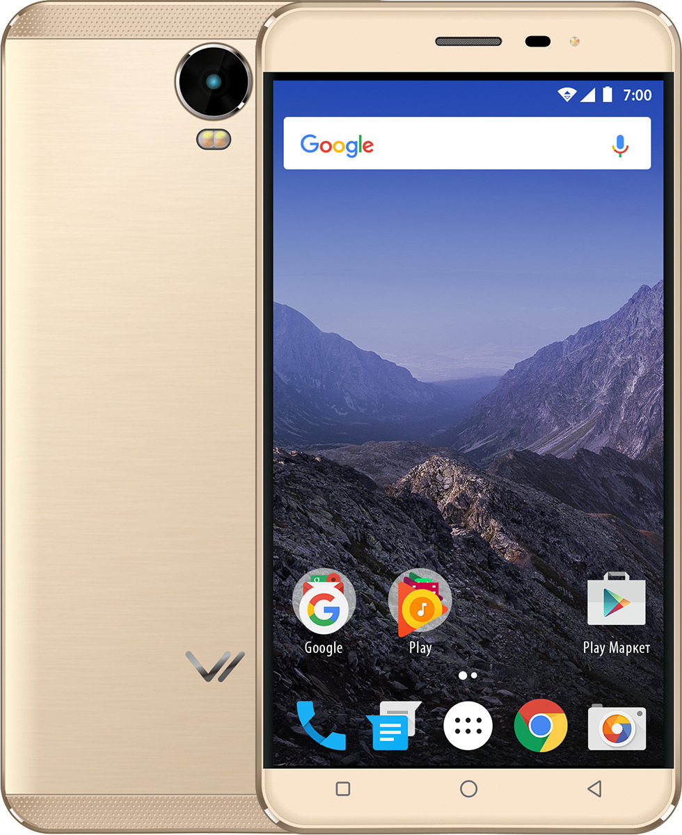 Смартфон Vertex Impress Eagle 4G 16 GB, золотой смартфон vertex impress eagle 4g gold