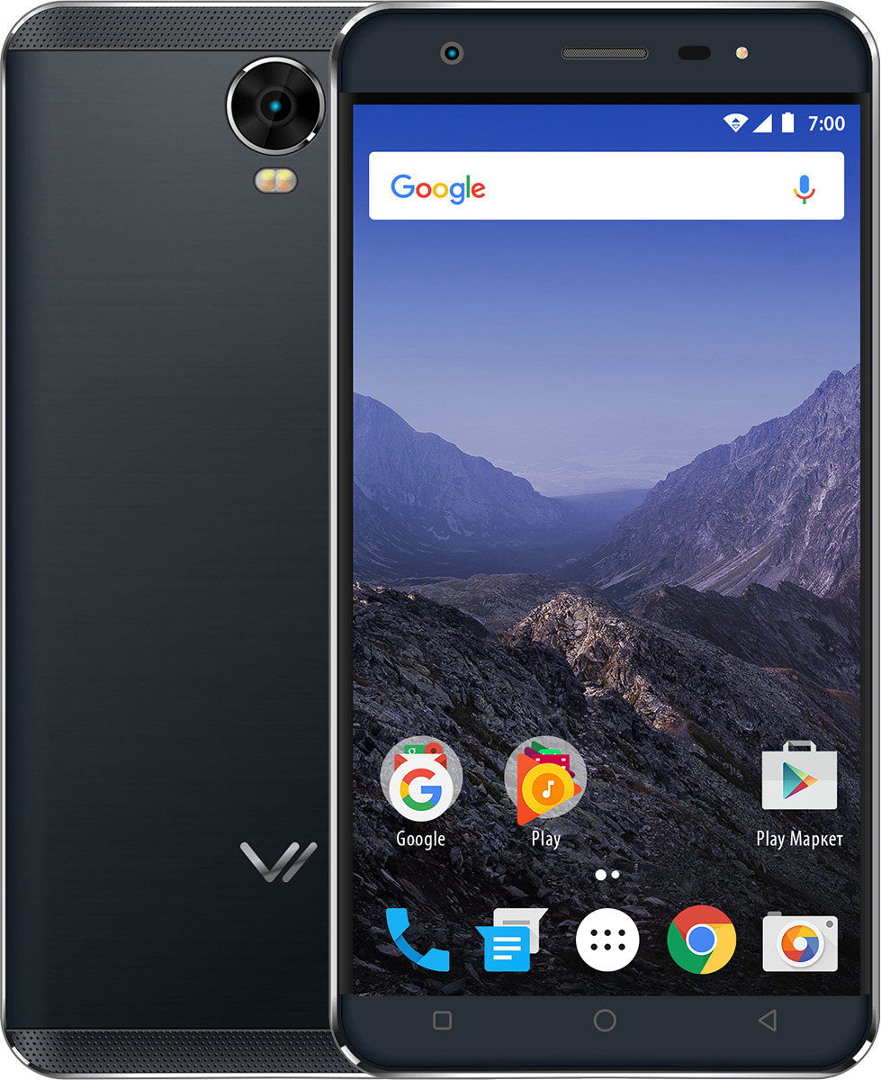 Смартфон Vertex Impress Eagle 4G 16 GB, серый смартфон vertex impress eagle 4g gold