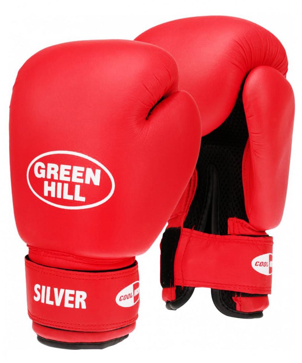 Перчатки боксерские Green Hill SILVER BGS-2039, УТ-00006344, 12oz, красный перчатки боксерские green hill force цвет красный белый вес 10 унций bgf 1215