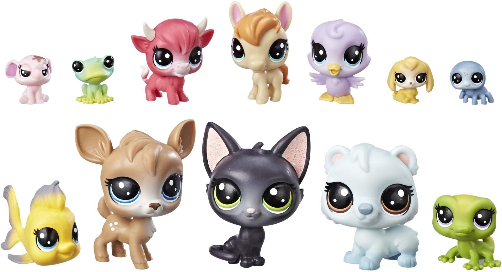 Набор фигурок Littlest Pet Shop 12 Счастливых петов, в ассортименте