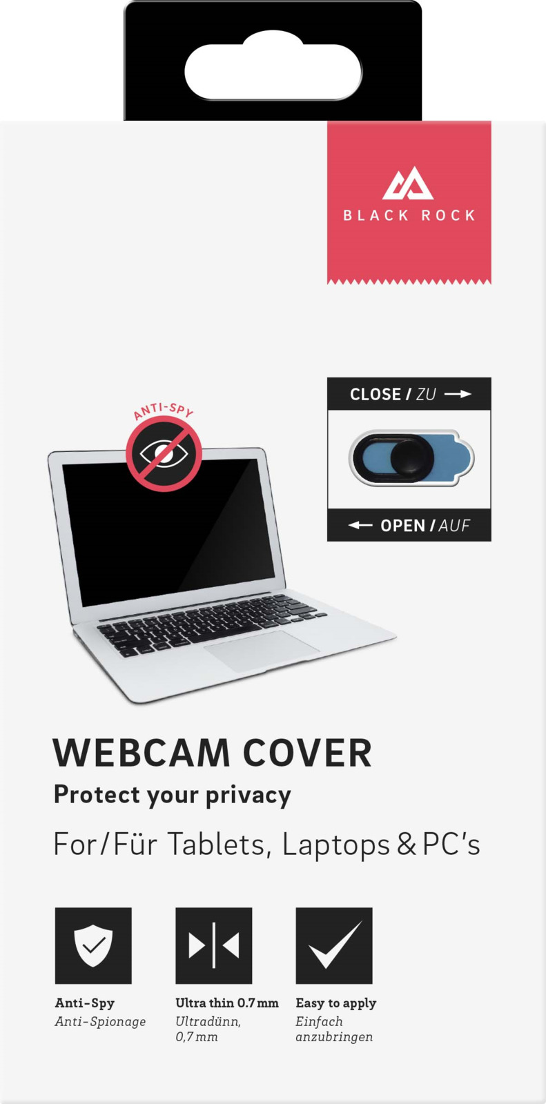 Шторка для веб камеры Black Rock, цвет: черный видеоэффекты для веб камеры