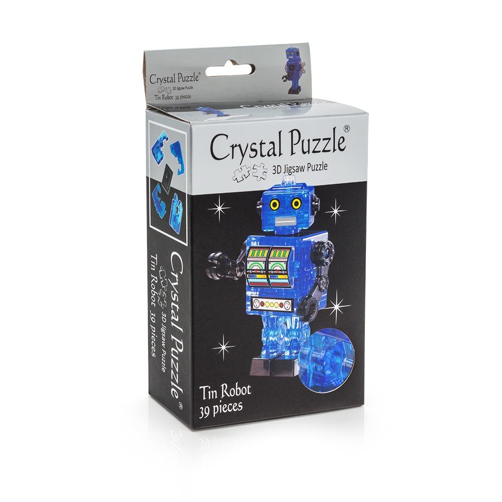 Головоломка Crystal Puzzle Робот, 90351, cиний цена