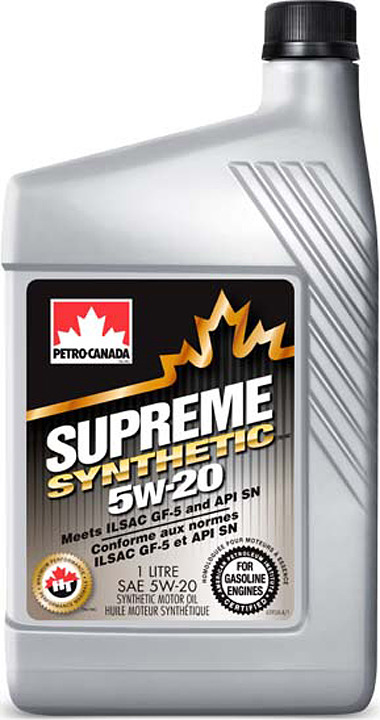 Моторное масло Petro-Canada Supreme Synthetic 5W-20, MOSYN52C12, 1 л