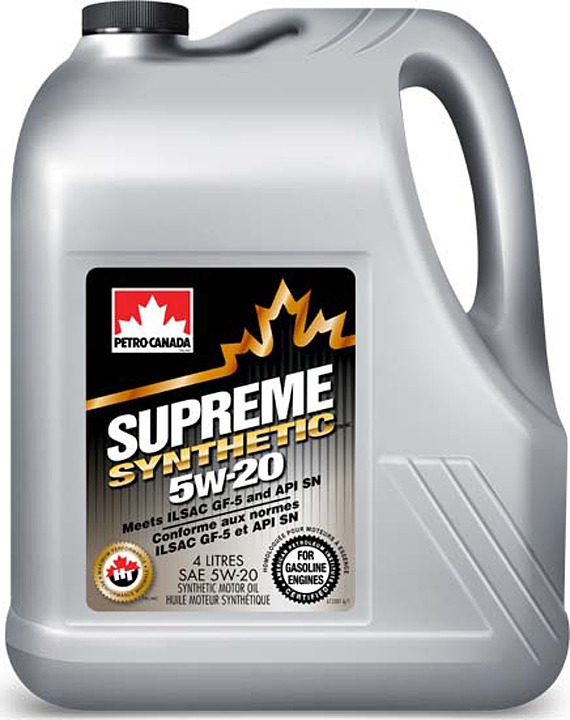 Моторное масло Petro-Canada Supreme Synthetic 5W-20, MOSYN52C16, 4 л