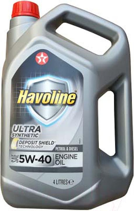 Моторное масло Texaco Havoline Ultra 5W40, 840310MHE, 4 л