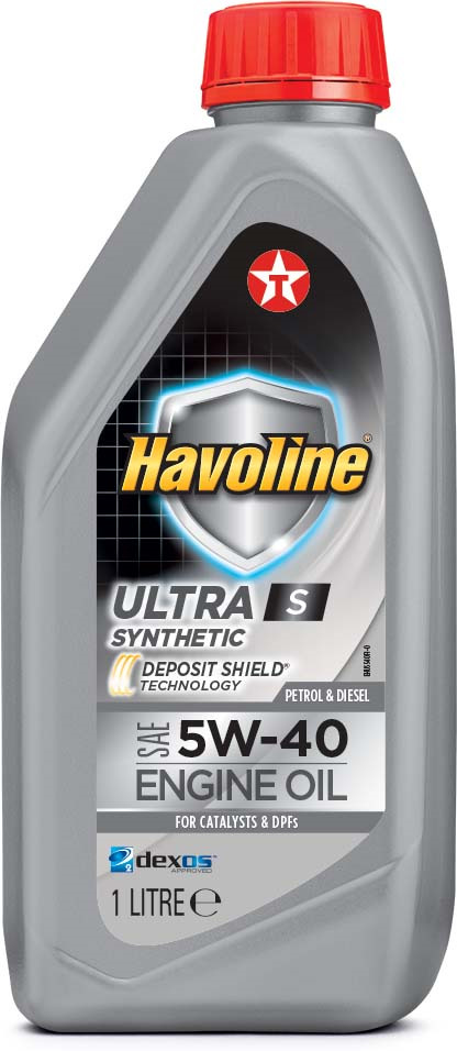 Моторное масло Texaco Havoline Ultra S 5W40, 801339NKE, 1 л