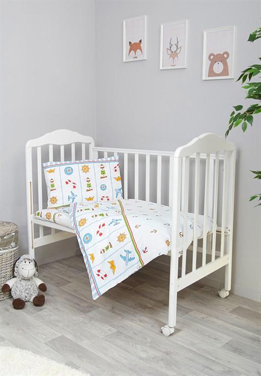 Фото - Комплект белья для новорожденных Сонный гномик Маяк, белый комплект белья для новорожденных сонный гномик жирафик бежевый белый
