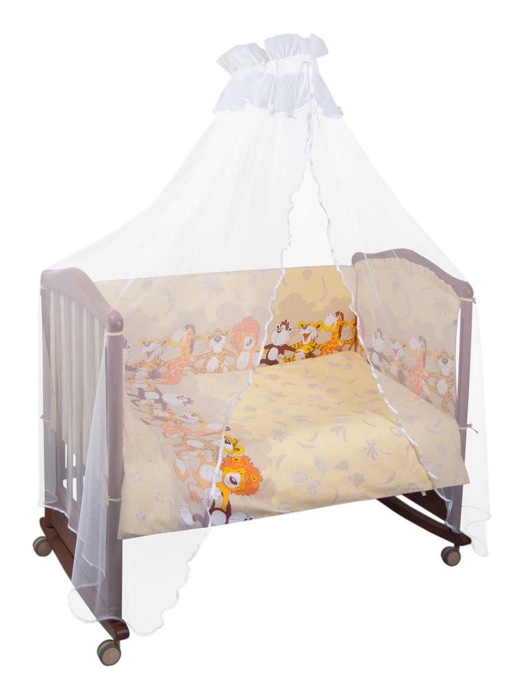 Комплект белья для новорожденных Сонный гномик Африка, бежевый стоимость