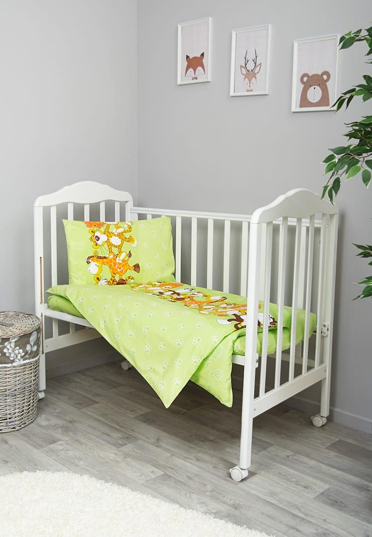 Фото - Комплект белья для новорожденных Сонный гномик Африка, салатовый комплект белья для новорожденных сонный гномик жирафик бежевый белый