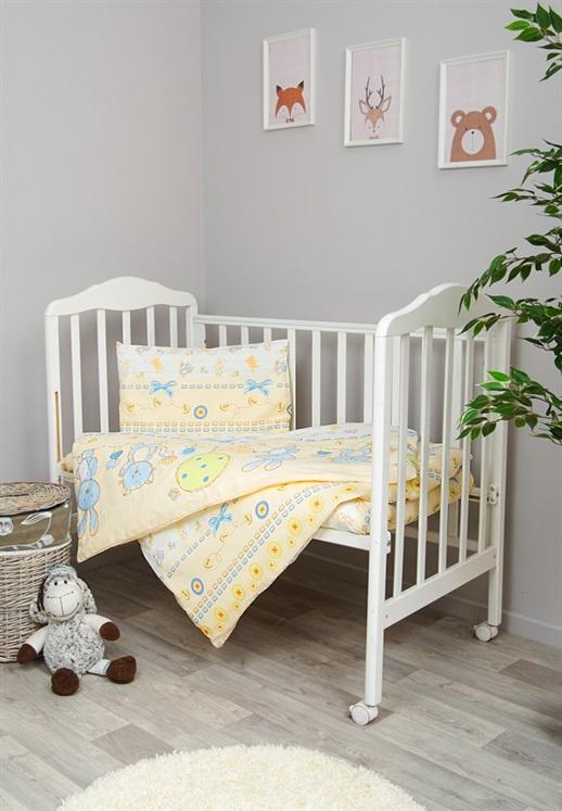 Фото - Комплект белья для новорожденных Сонный гномик Акварель, белый, желтый, голубой комплект белья для новорожденных сонный гномик жирафик бежевый белый