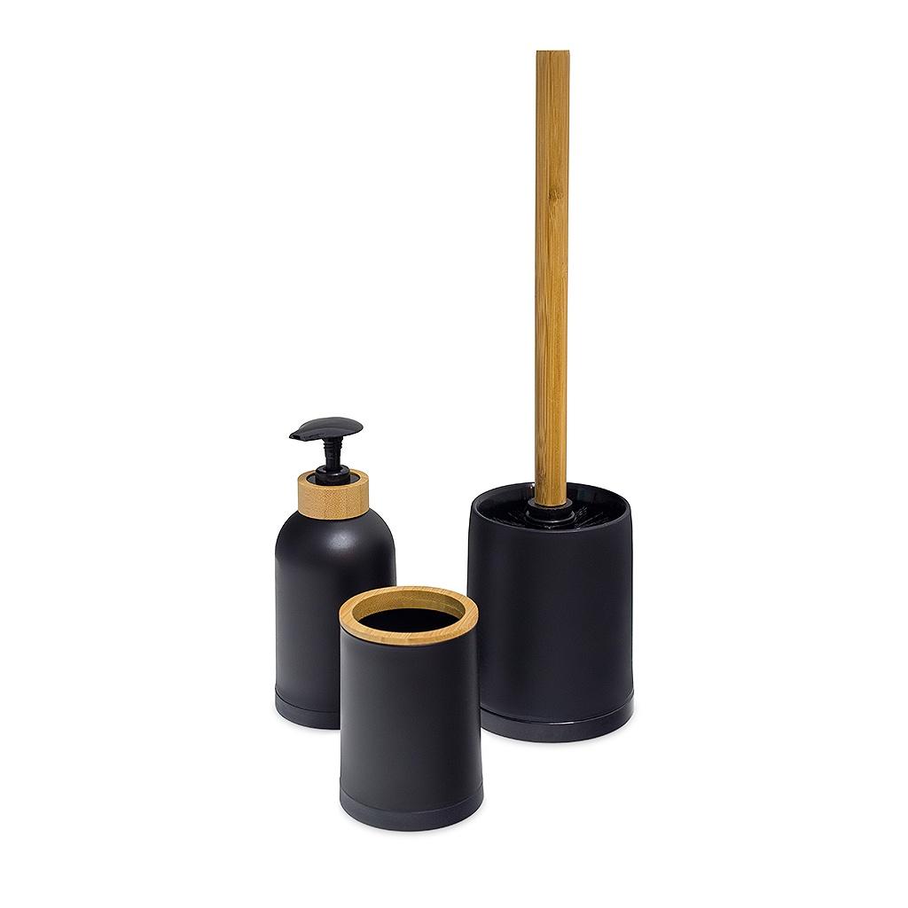 Набор для ванной комнаты Balvi Zen, черный, 3 предмета