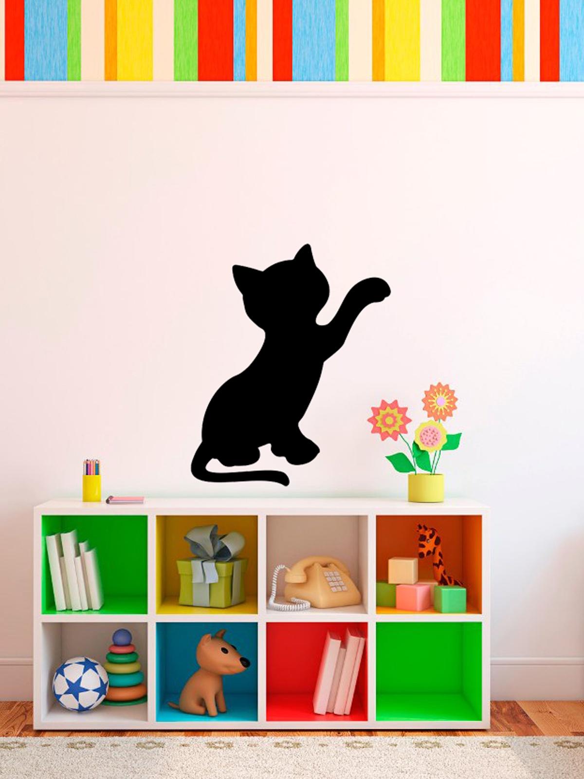 Мел Посмел Меловая наклейка для записей Котёнок, размер 41,5х23,5 см цена