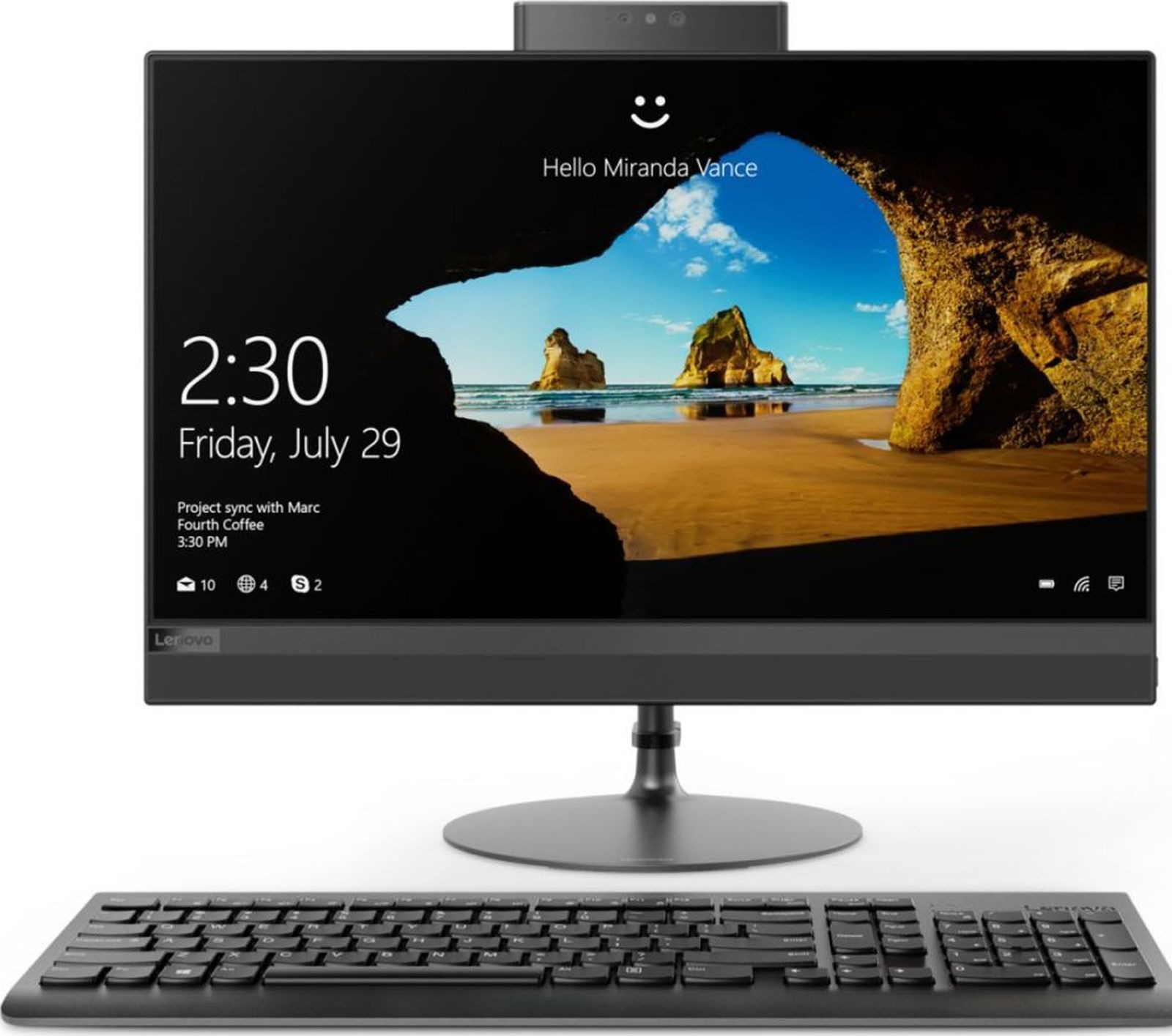 Моноблок Lenovo IdeaCentre 520-24ICB 23.8 Full HD P 5400T (3.1)/4Gb/1Tb 7.2k/UHDG 610/DVDRW/CR/Free DOS/GbitEth/WiFi/BT/90W/клавиатура/мышь/Cam/черный 1920x1080 моноблок hp proone 400 g2 20 hd p g4400t 2 9 4gb 500gb 7 2k hdg510 dvdrw windows10 single language 64 eth wifi bt 90w клавиатура мышь cam черный