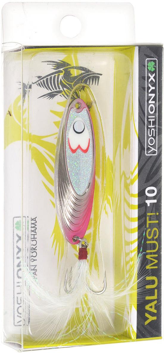 Блесна Yoshi Onyx Yalu Must, 10 г, цвет: P (серый, розовый)