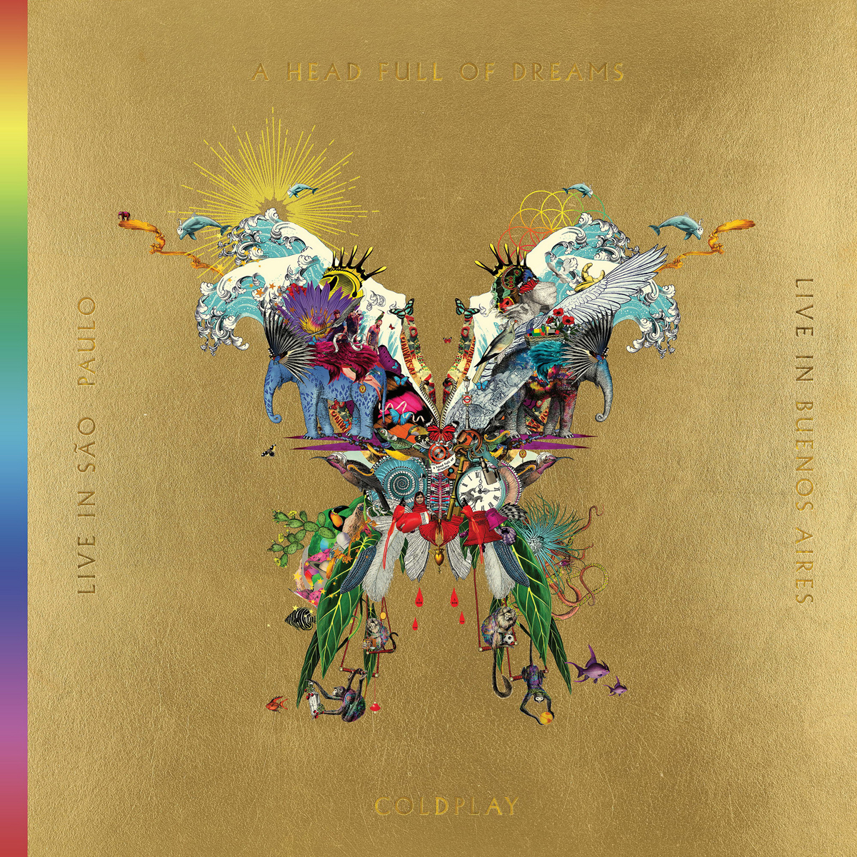 Coldplay Coldplay. Live In Buenos Aires / Live In Sao Paulo / A Head Full Of Dreams (3 LP + 2 DVD)
