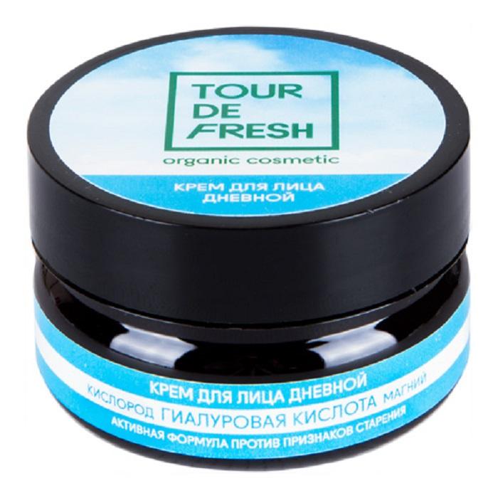 Дневной крем для лица кислород-гиалуроновая кислота-магний Tour De Fresh