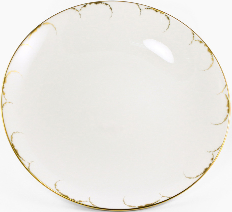 Блюдо Narumi Белый с золотом круглое, 8968-1843, 32 см