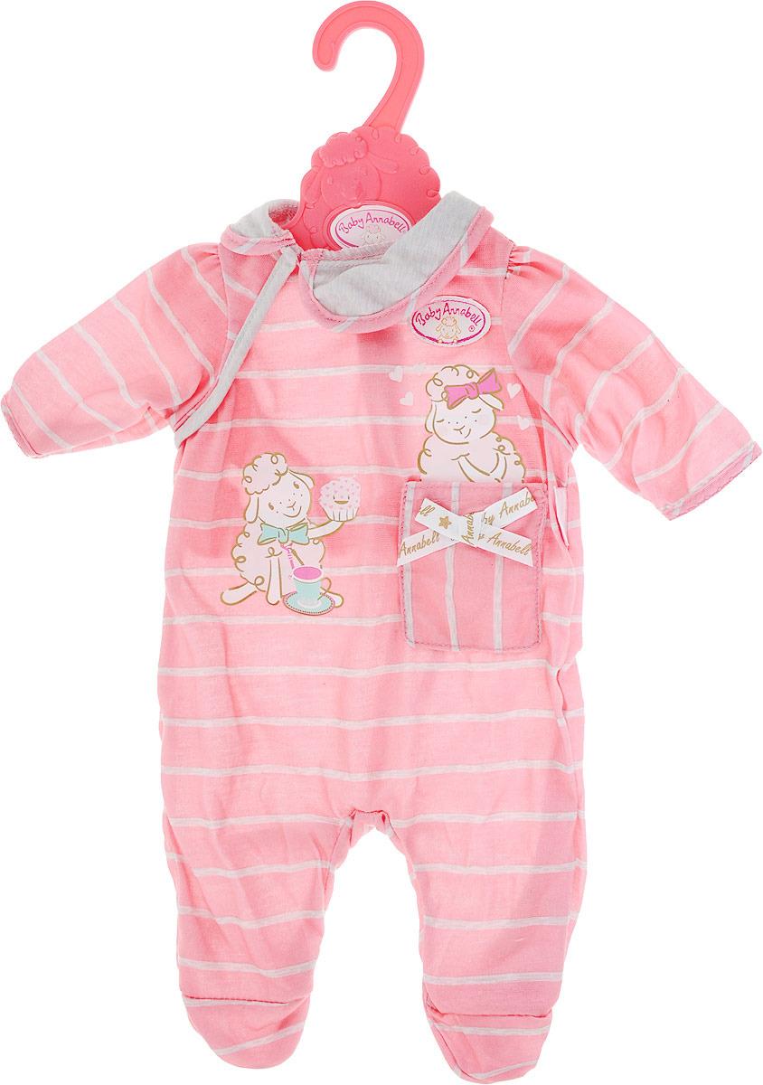 Одежда для куклы Zapf Creation Baby Annabell, 700-846, розовый zapf creation аксессуар для куклы baby annabell соска с цепочкой цвет розовый