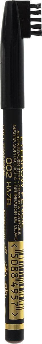 Max Factor Карандаш для бровей Eyebrow Pencil, тон №02 Hazel, цвет: светло-коричневый карандаш для бровей max factor 001 цвет черный