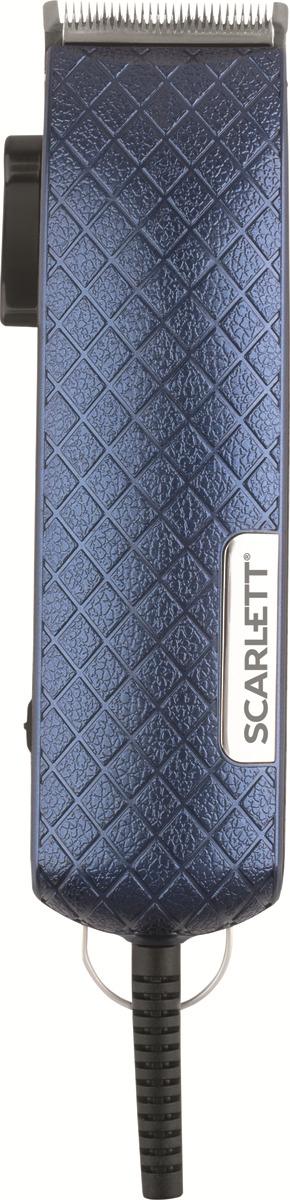 Машинка для стрижки волос Scarlett SC-HC63C35, синий scarlett sc hc63c01 black chrome машинка для стрижки волос