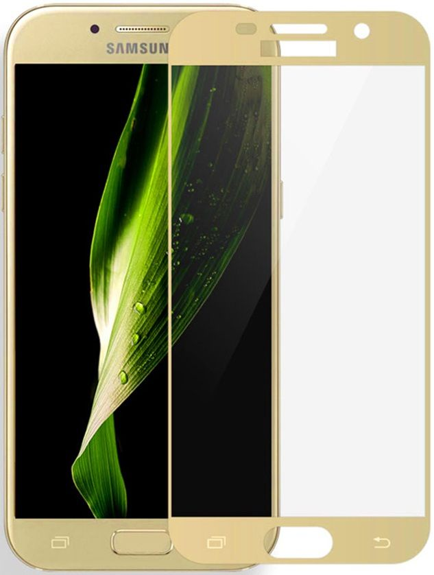 Защитное стекло 5D Glass Shield Samsung Galaxy A5, samA520gl, золотой аксессуар защитное стекло samsung galaxy s8 gecko 5d 0 26mm gold zs26 gsgs8 5d gold