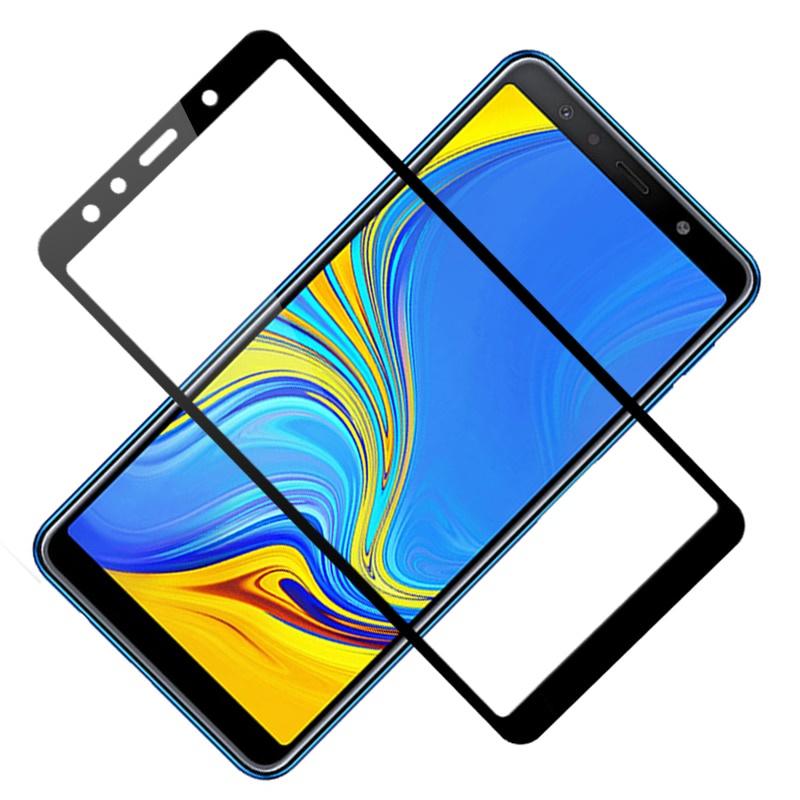 Защитное стекло 5D Glass Shield Samsung A7, samA7bl2018, черный
