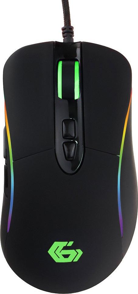 Мышь игровая Gembird MG-750, USB, 7 кнопок, черный combating cw50 игровая мышь профессиональная игровая мышь