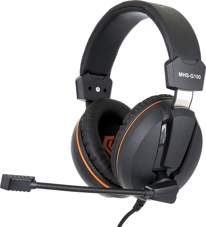 Гарнитура игровая Gembird MHS-G100, черный, оранжевый все цены