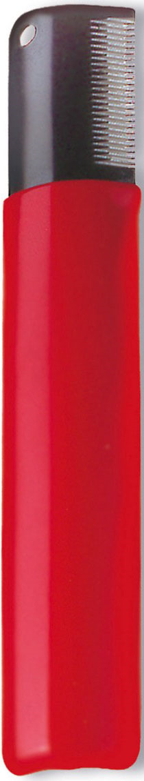 Нож для тримминга Artero, P214, красный, 18 зубцовP214Тримминг (выщипывание отмерших шерстинок) - механическая смена шерстного покрова(искусственная линька). Собаку тщательно расчесать, удалять шерсть при помощи ножа-тримминга рывками и только по ходу роста шерсти. Шерсть прижимать большим пальцем к лезвию ножа.