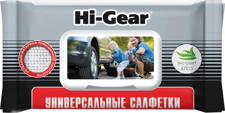 Салфетки влажные Hi-Gear, универсальные, HG5608, 60 шт влажные салфетки vestar алоэ вера освежающие 15 шт