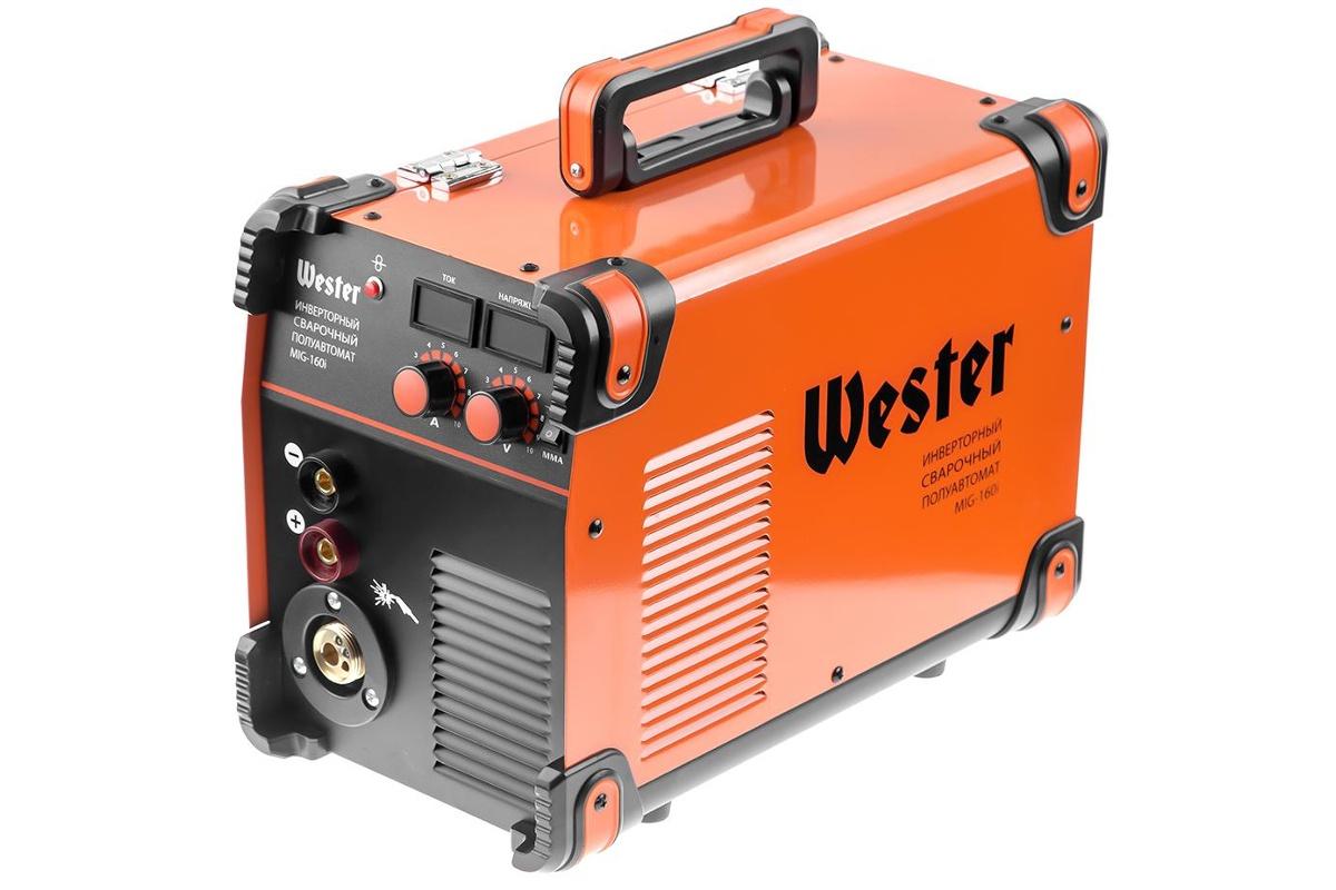 Сварочный полуавтомат инверторный WESTER MIG-160i  MIG/MAG/MMA 40-160A 0.6-1.2 мм евроразьем