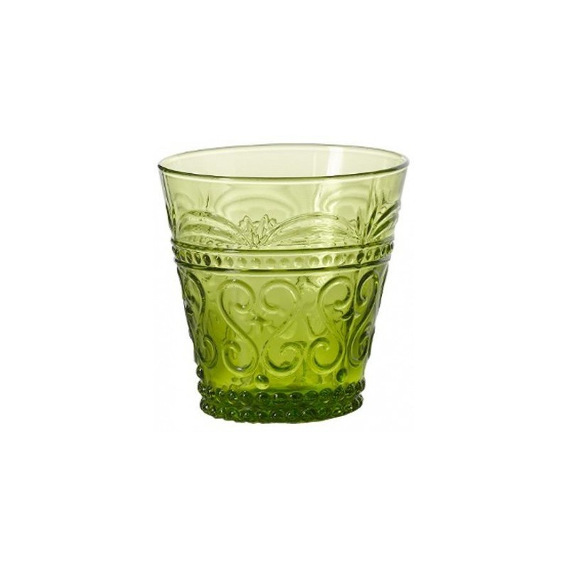 """Бокал для сока/воды Zafferano Provenzale PV00113, светло-зеленый, 250мл.PV00113В самой демократичной по цене серии """"Provenzale"""" итальянского бренда Zafferano вы встретите коллекцию бокалов для воды/сока, бокалы для вина, тарелки десертные и обеденные, блюда и чаши, кувшины, емкости для хранения.Особенность данной серии, в ее стиле. Он позаимствован из далеко прошлого и в целом относится к стилю """"винтаж"""".Коллекция выполнена из цветного стекла, ручная работа.Можно мыть в посудомоечной машине при температуре не более 60 градусов."""