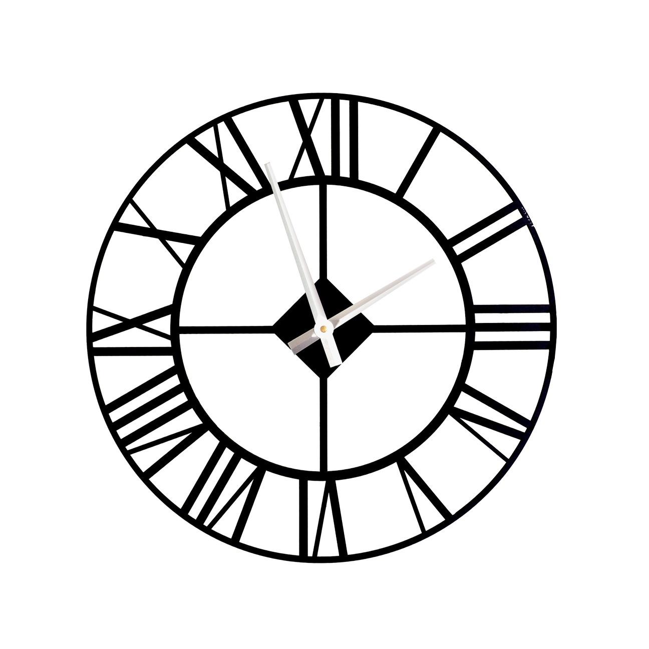 Настенные часы Roomton Лофт, 001/60/BK, черный