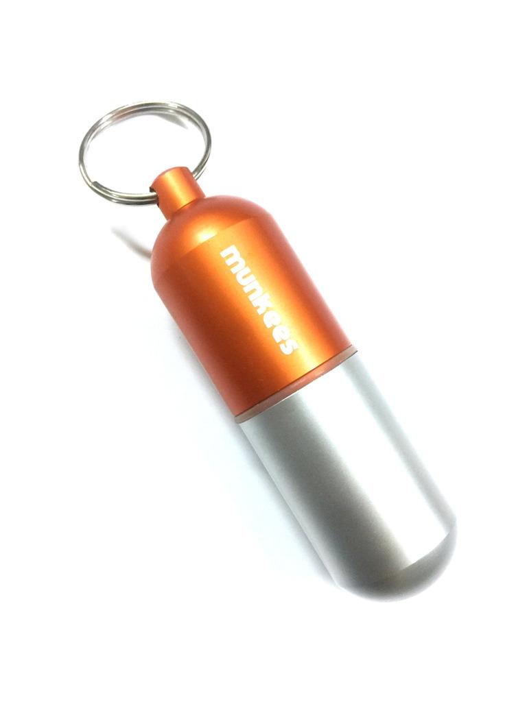 Брелок туристический Munkees Водонепроницаемая капсула, размер L, цвет: оранжевый
