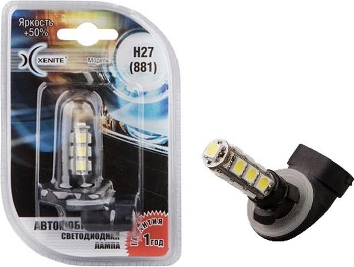 Автолампа Xenite H27, светодиодная, -13SMD, 12V, 1009049