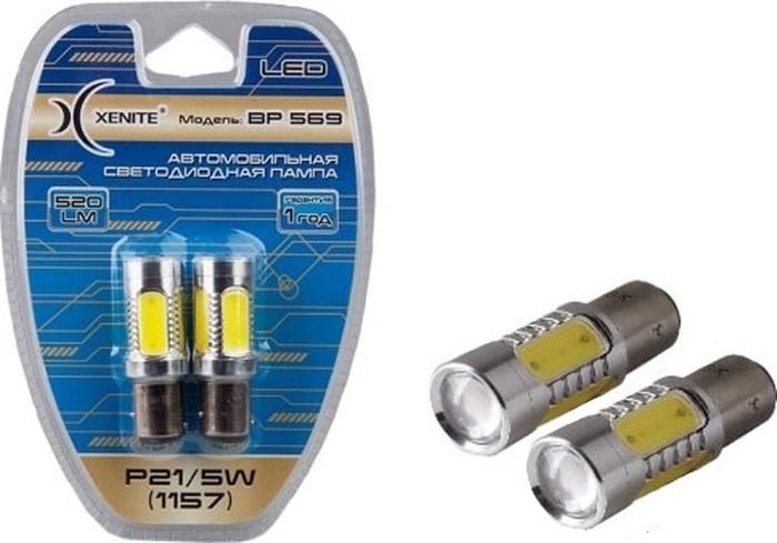 Автолампа Xenite BP569-11W, светодиодная, 12-24V, P21/5W, 1009295, 2 шт