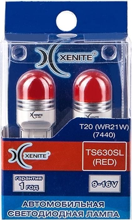 Фото - Автолампа Xenite TS630SL RED, светодиодная, 9-16V, T20, WR21W, 1009532, 2 шт автолампа xenite tp630sl red светодиодная 9 16v t20 wr21w 1009529 2 шт