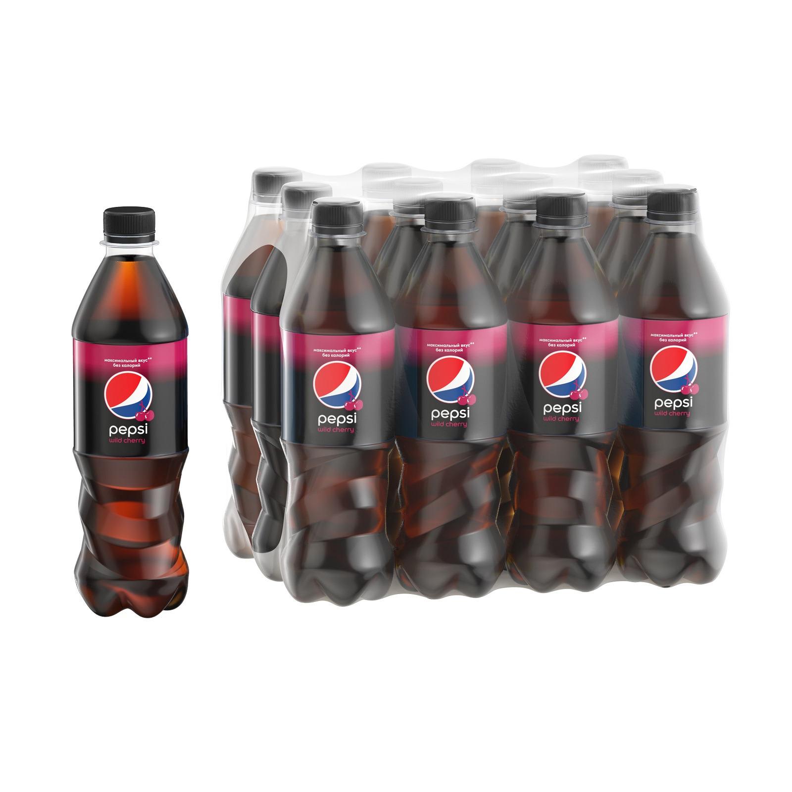 """Газированный напиток Pepsi """"Вайлд черри"""", 500 мл по 12 шт"""