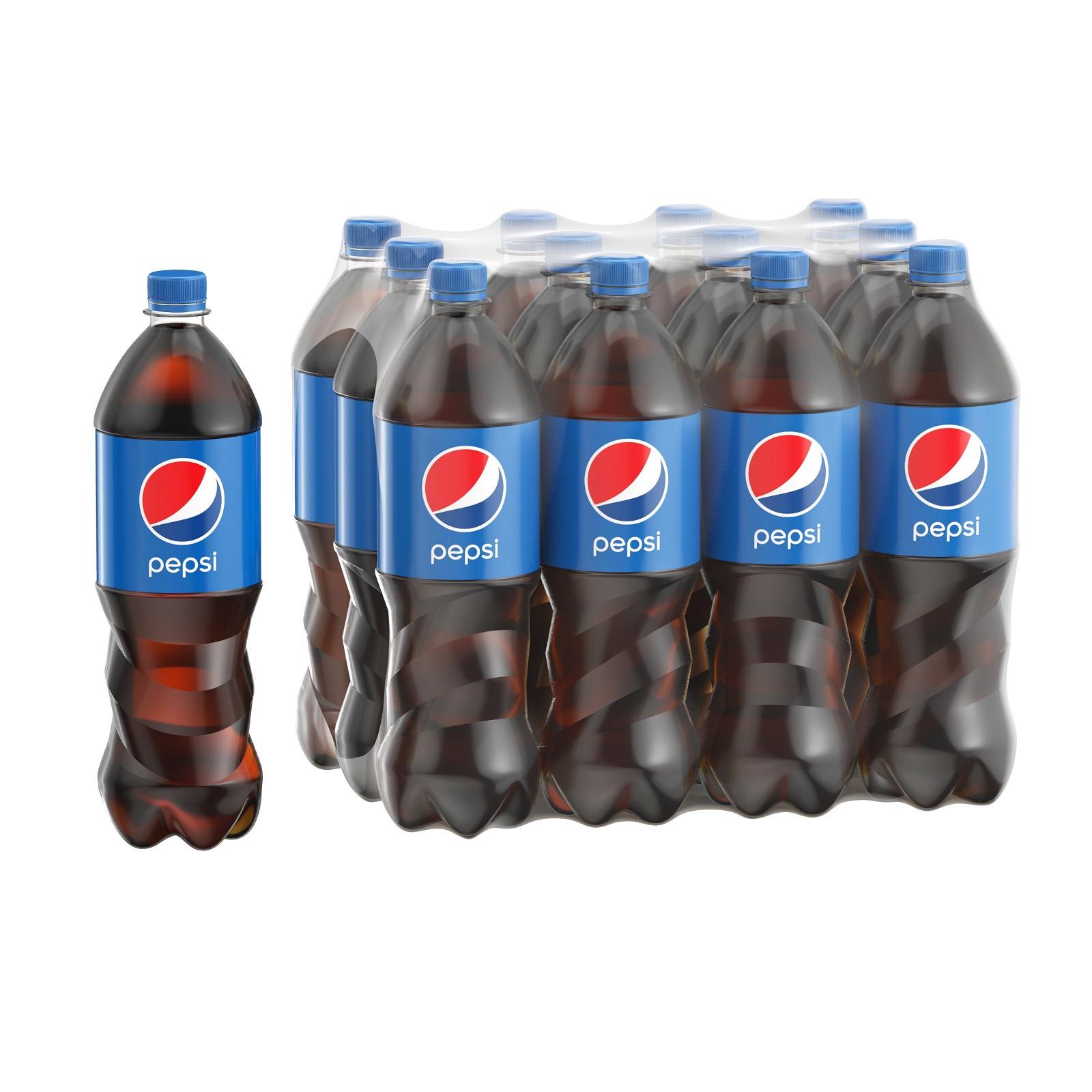 Газированный напиток Pepsi, 12 шт по 1 л
