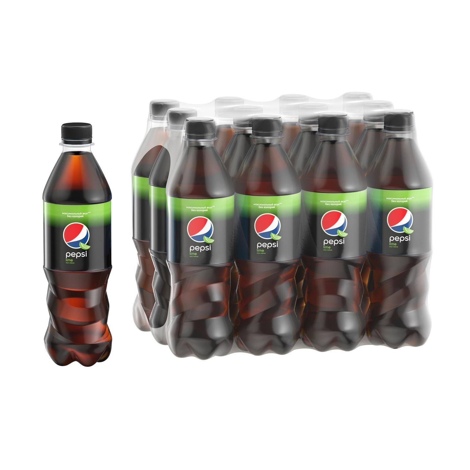 Газированный напиток Pepsi Lime, 500 мл по 12 шт