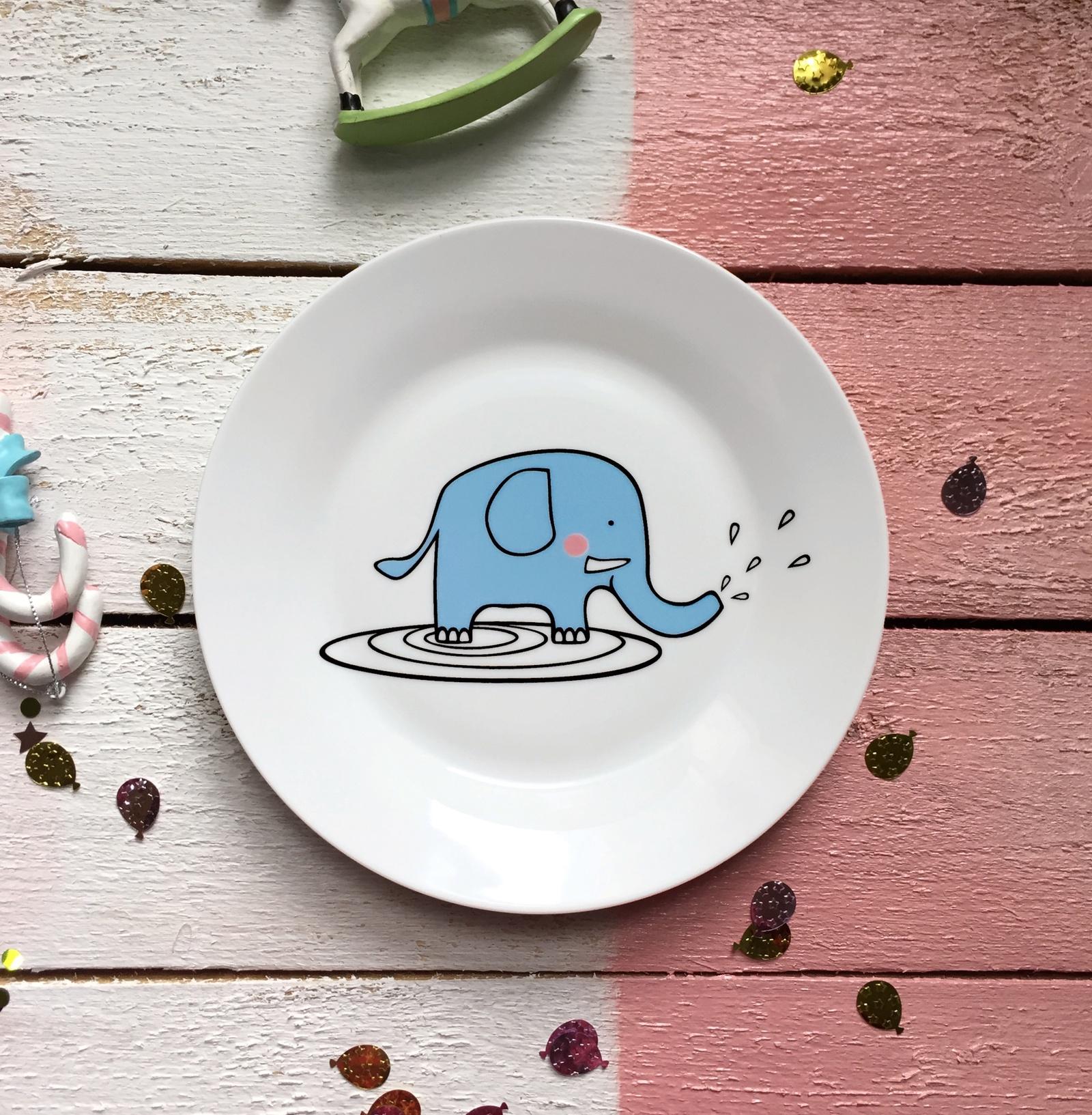 Тарелка Слон Бубон 20 см тарелка сотвори чудо слон бубон 20 см фарфор