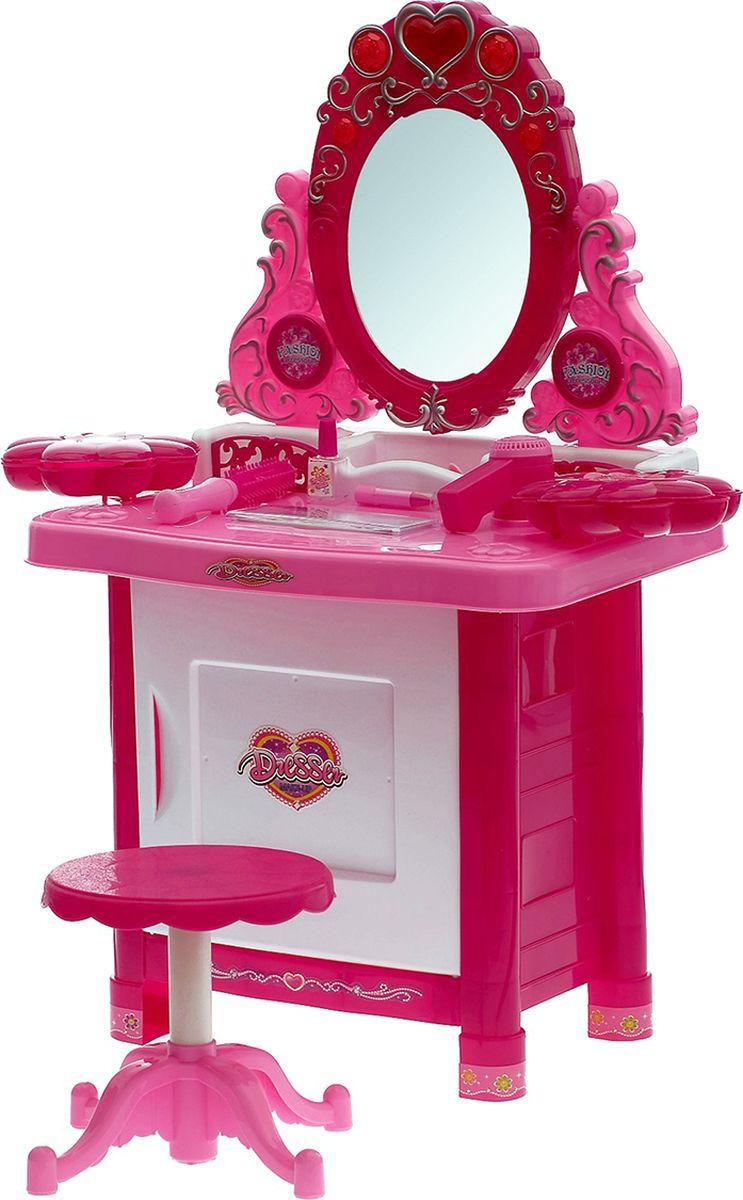 """Столик с зеркалом """"Маленькая очаровашка"""", с аксессуарами, свет, звук, №SL-0747, 1030501"""