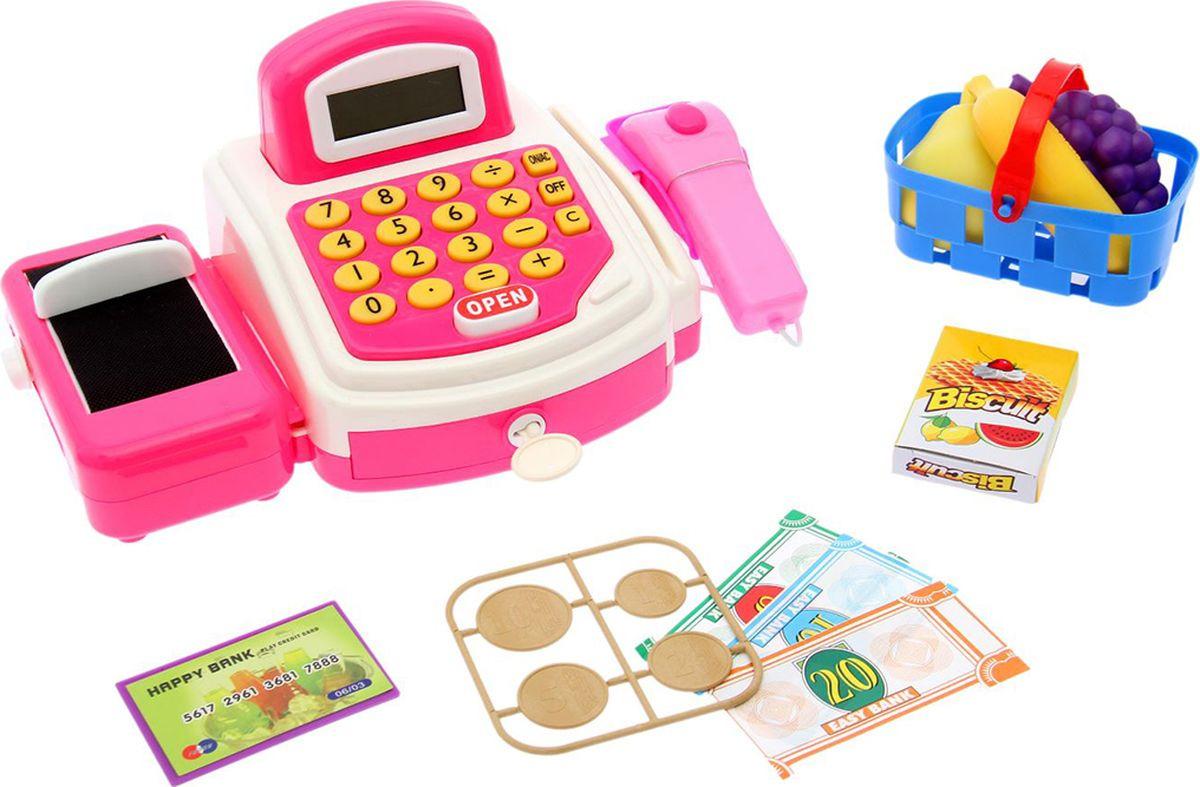 """Игровой набор """"Играем в магазин"""", со сканером, корзиной и аксессуарами, 2337197"""