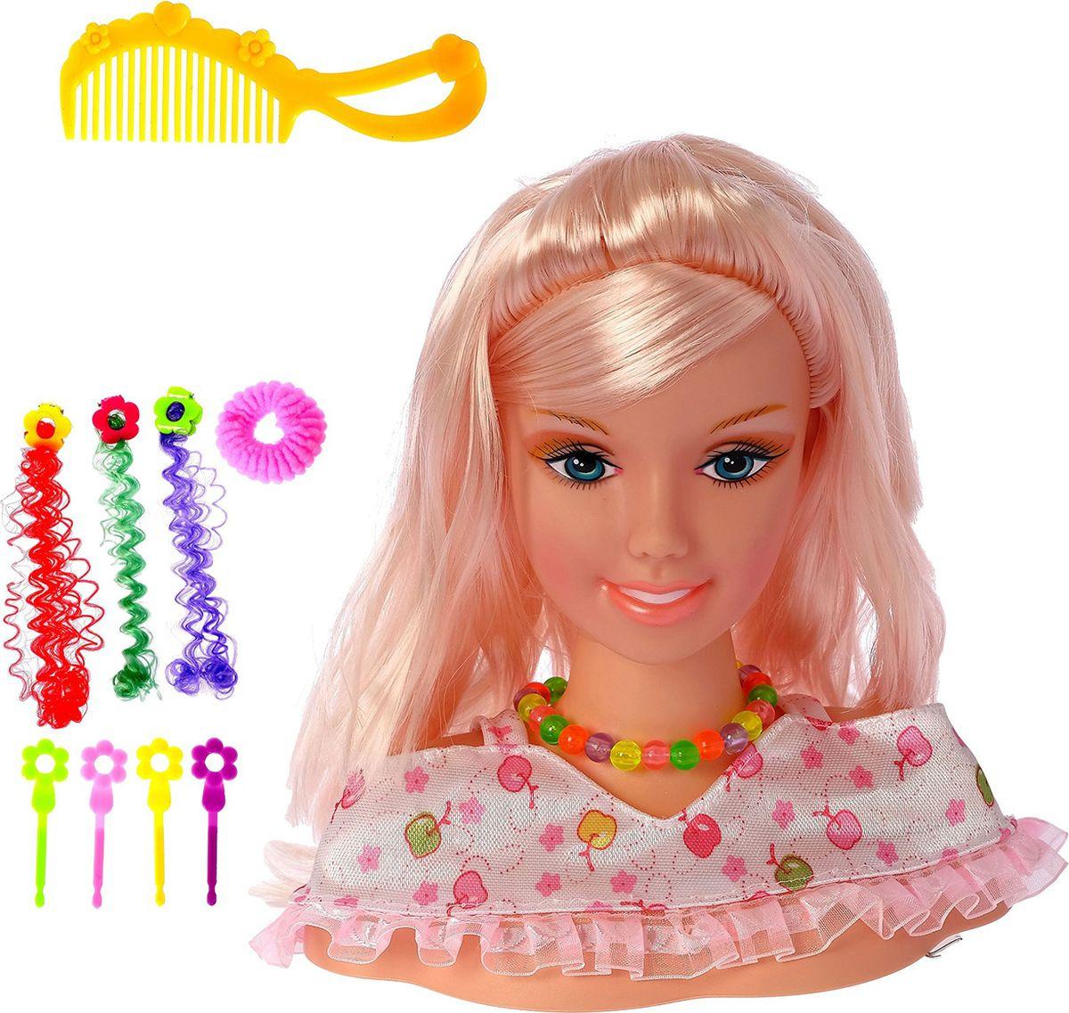 """Кукла-манекен для создания причесок """"Красавица"""", с аксессуарами, 2683130"""
