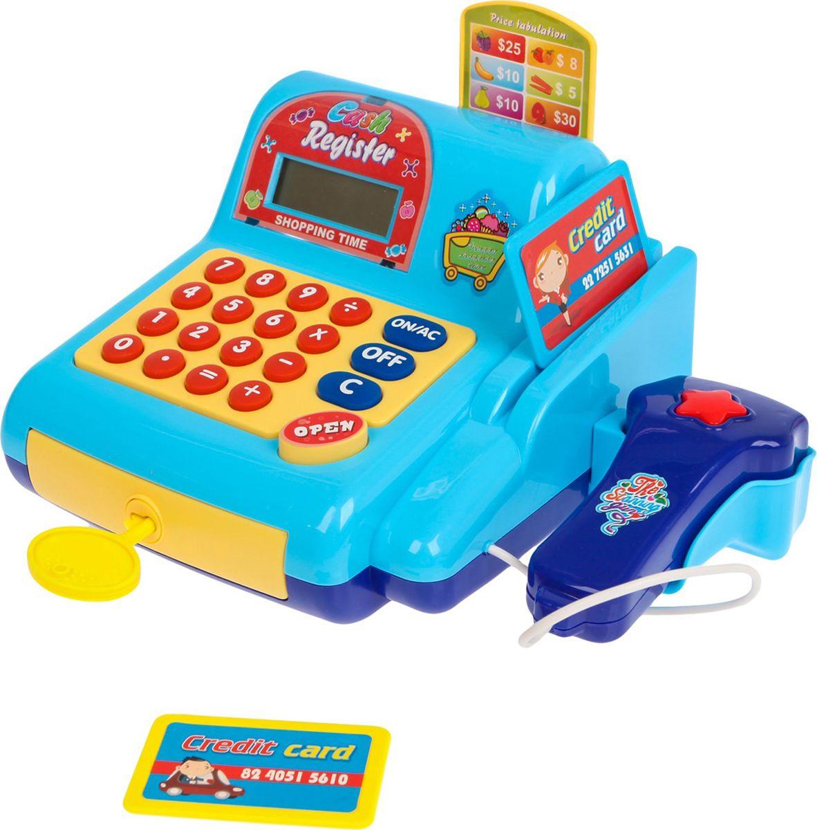 """Касса-калькулятор """"Поиграем в магазин-3"""", с аксессуарами, свет, звук, 2871317"""