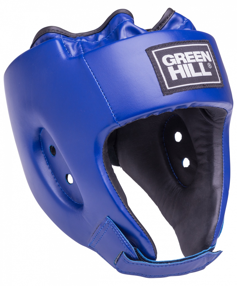 Шлем боксерский Green Hill ALFA HGA-4014 открытый, УТ-00009389, синий шлем ridex ут 00008189 cyclone синий чёрный