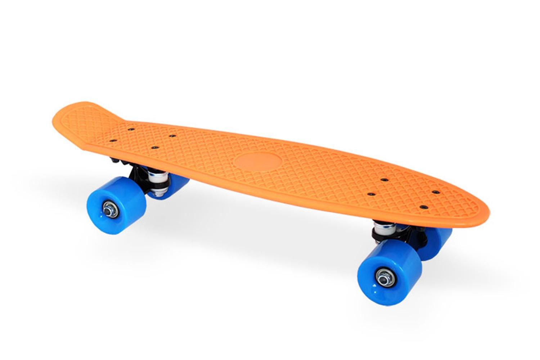 Скейтборд Moove&Fun Скейт пластиковый 22х6, оранжевый, оранжевыйPP2206-1 orangeШирина колёс 45 ммМосты: Алюминиевая свехпрочная подвеска