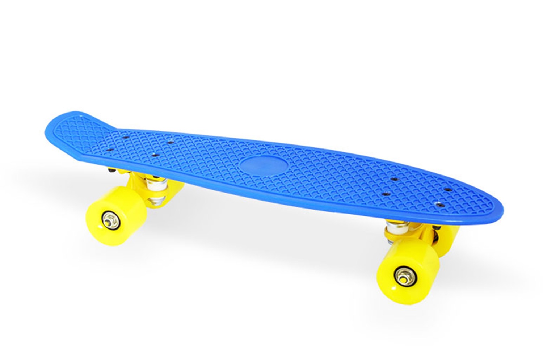 Скейтборд Moove&Fun Скейт пластиковый 22х6, темно-синий, темно-синийPP2206-1 navy blueШирина колёс 45 ммМосты: Алюминиевая свехпрочная подвеска