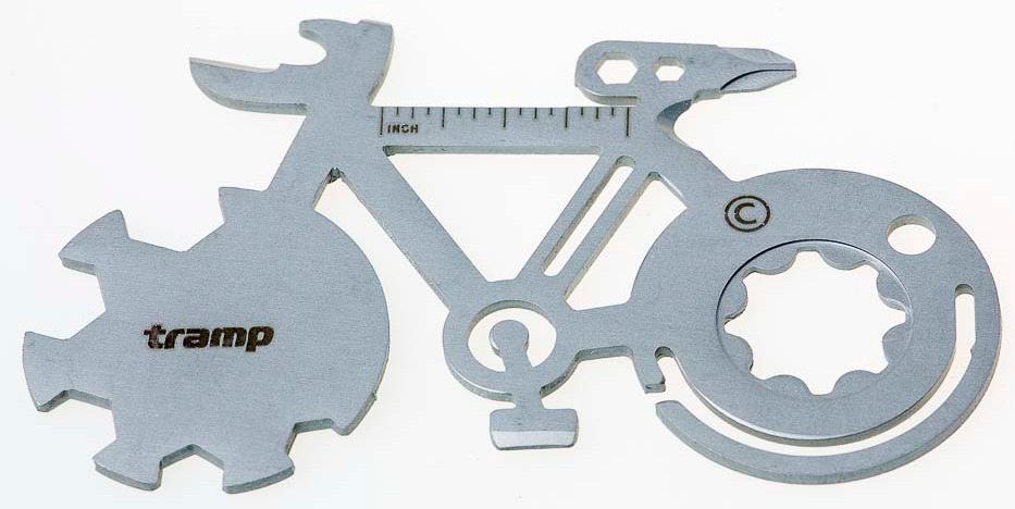 Брелок туристический Tramp Bicycle, карта-мультитул, TRA-230, серый батарея аккумуляторная pitatel tsb 033 mak18a 15c